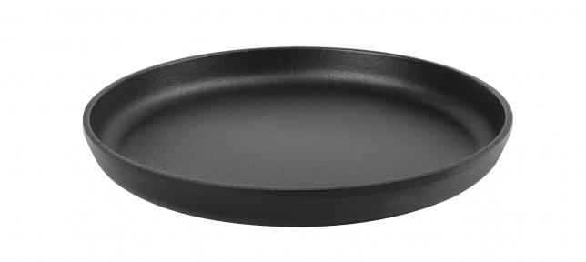 Сковорода чугунная порционная для пиццы эмалированная ( d=200мм, h=20мм) (Эмаль Матовая)