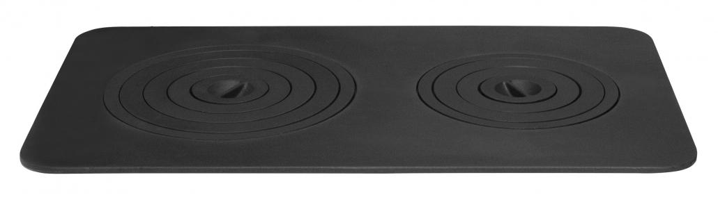 Плита чугунная печная двухконфорочная 740х440 (9 колец)
